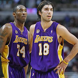 Sasha Vujacic and Kobe