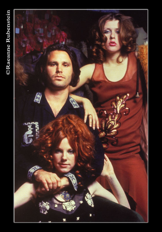 Tere Tereba, Jim Morrison & Pamela Courson. Photo by Raeanne Rubenstein